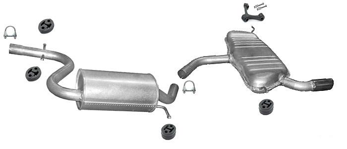 Auspuff Endschalldämpfer Audi A3  FSI 85kW bis 09//2007 116PS 85kW